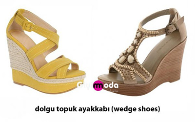 Dolgu topuk ayakkabı (wedge shoes)