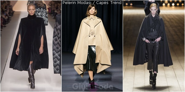 Saint Laurent,  Givency, Saint Laurent 2018-19 Sonbahar-Kış Pelerin Modelleri