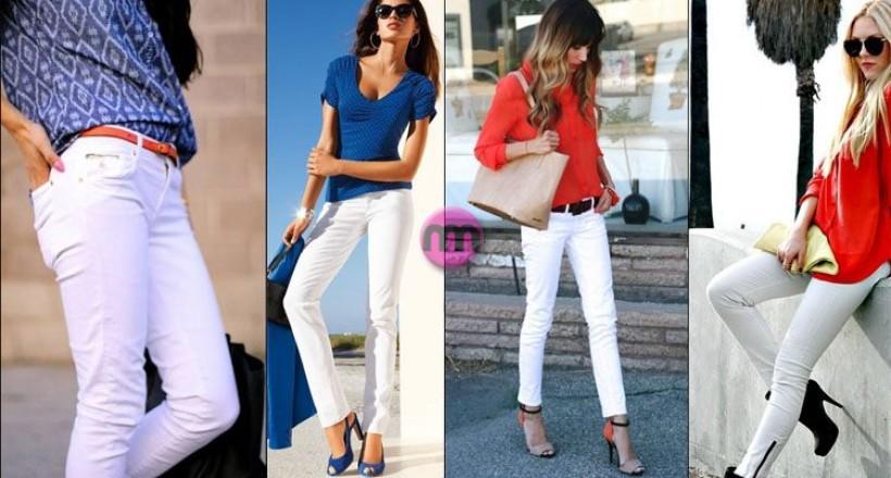 Beyaz Pantolon Nasıl Giyilir? Beyaz Jeans Kombinleri