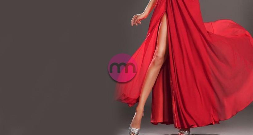 Derin Yırtmaçlı Elbise Modelleri
