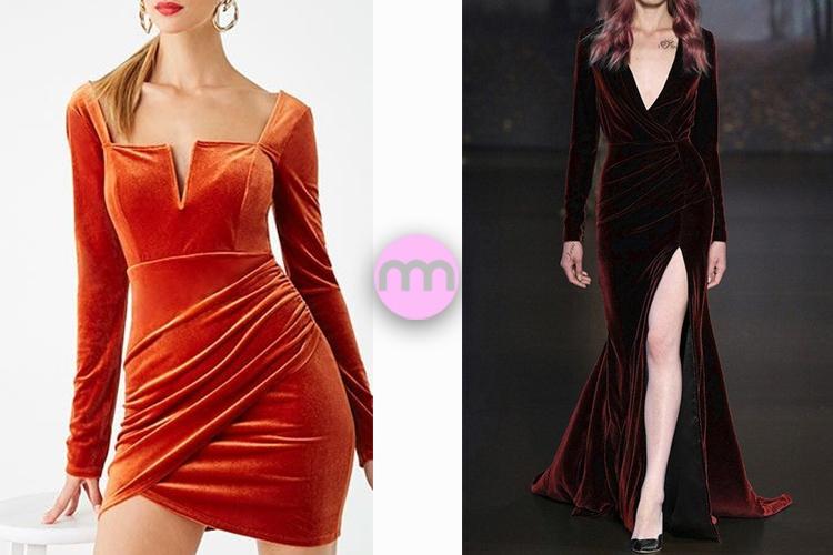 Çeşit Çeşit Kadife Elbise Modelleri