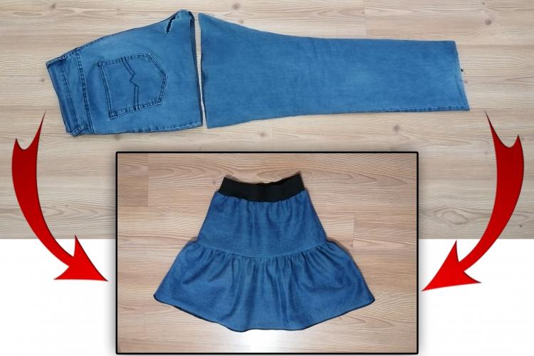 Eski Kot Pantolondan Etek Yapımı