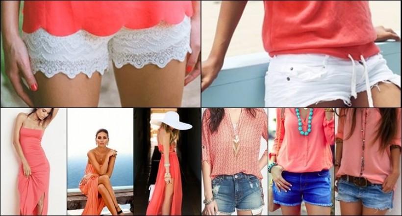 Mercan Renk Nasıl Giyilir? Mercan Renk Kıyafet Kombinleri