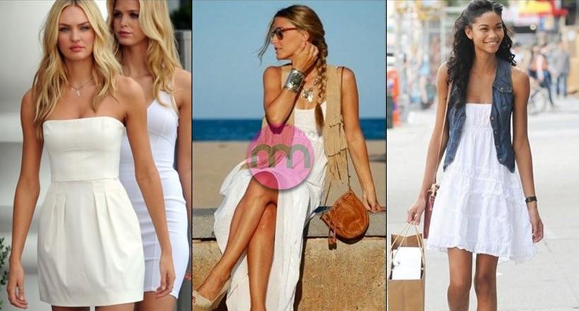 Beyaz Elbise Modelleri ve Kombinleri