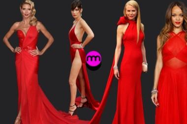Kırmızı Halıda Kırmızı Elbiseler