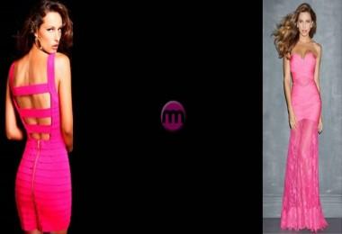 Farklı Tonlarda Pembe Elbise Modelleri
