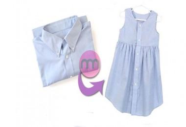 Büyük Gömlekten Çocuk Elbisesi Dikme (DIY)